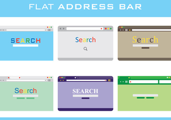 Flat Address Bar - vector #415003 gratis