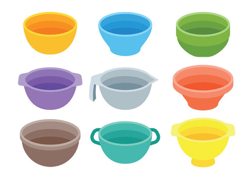 Free Mixing Bowl Icons Vector - Free vector #415013