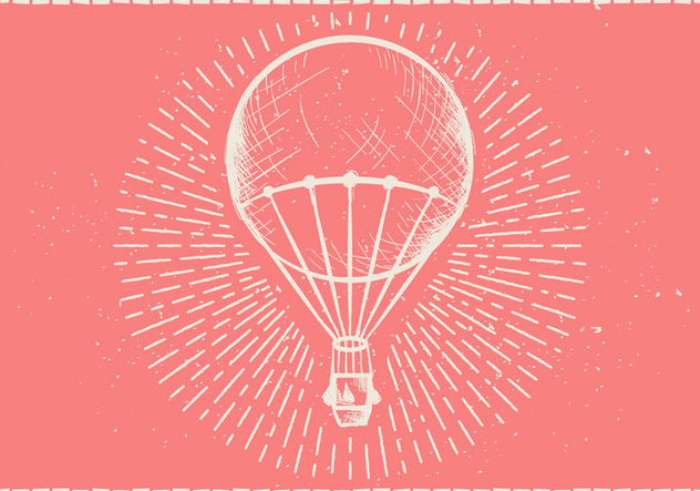Free Hand Drawn Hot Air Balloon Vector Background - Kostenloses vector #415043