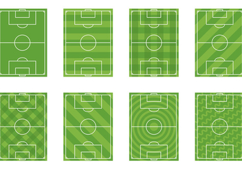 Set Of Football Ground Vector - vector gratuit #415123