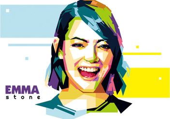 Emma Stone - Hollywood Life - WPAP - бесплатный vector #415133