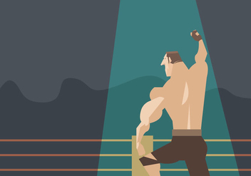 Wrestle Champion Vector - Free vector #415143