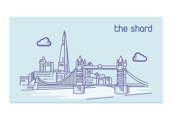 The Shard lineart - vector gratuit #415173