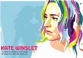Kate Winslet - Hollywood Life - Popart Portrait - Free vector #415193