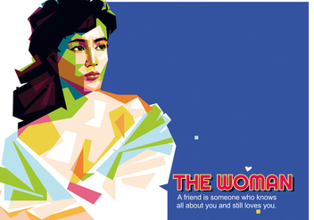 The Woman - Indonesian Life - WPAP - vector gratuit #415203
