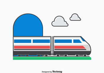 Free Vector High Speed Train Vector Illustration - Free vector #415213