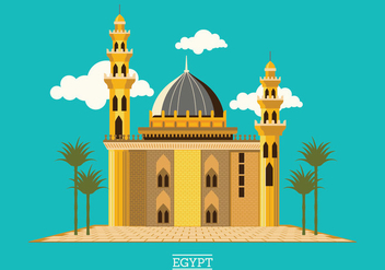 The medieval mosque of Sultan Hassan located on Salah El-Deen Square Cairo Egypt - Free vector #415333