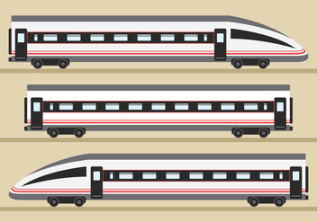 TGV Train Transportation - vector gratuit #415353