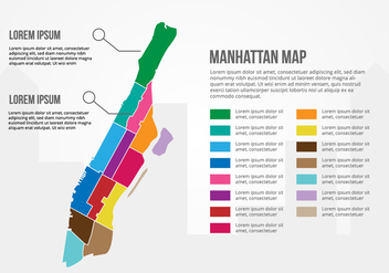 Free Manhattan Map Infographic - Free vector #415363