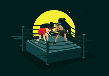Free Wrestling Ring Illustration - vector gratuit #415403