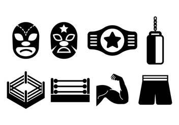 Free Wrestling Icons - Free vector #415463