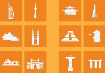 Popular Landmark Icon - vector #415493 gratis
