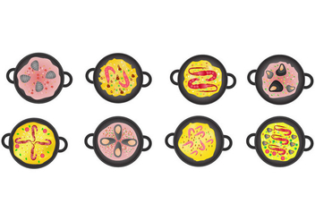 Free Paella Icon Vector - бесплатный vector #415533