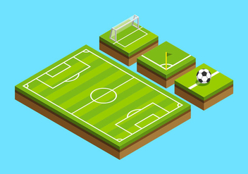Football Ground Isometric - vector gratuit #415683