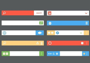 Free Flat Address Bar Vector - vector #415693 gratis