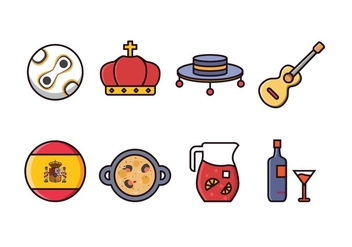 Free Spain Icon Set - vector #415853 gratis