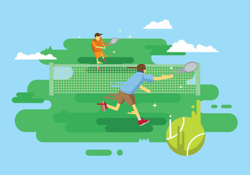 Free Tennis Illustration - Kostenloses vector #415873