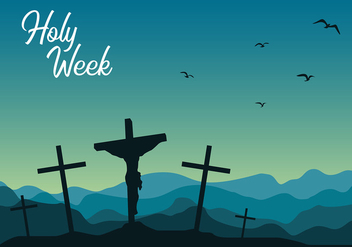 Holy Week Night Free Vector - vector gratuit #415933