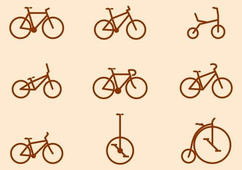 Free Bicycle Vector Collections - бесплатный vector #416003