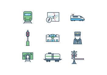 Free Train Icon Set - vector gratuit #416043