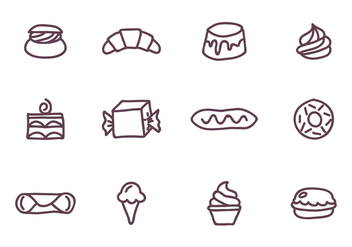 Set of Sweet Food - Kostenloses vector #416083