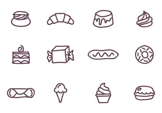 Set of Sweet Food - Free vector #416083