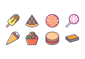Goody and Candy Linear Icons - vector #416113 gratis