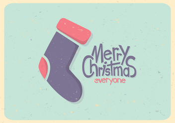 Pastel Christmas Stocking Vector - vector gratuit #416223