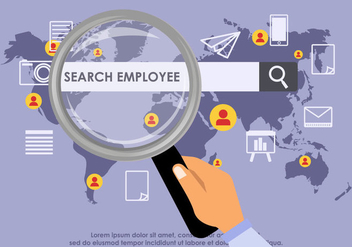 Search Employee Vector - Free vector #416293