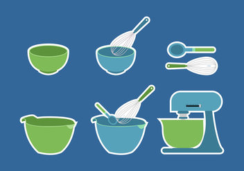 Bowl Cake Utensils - Free vector #416313
