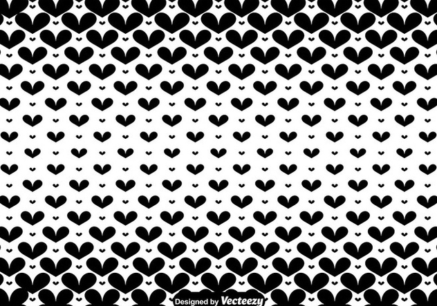 Vector Black Hearts Seamless Pattern - бесплатный vector #416333