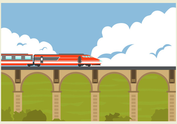 High Speed Rail TGV Train Vector Illustration - Free vector #416393