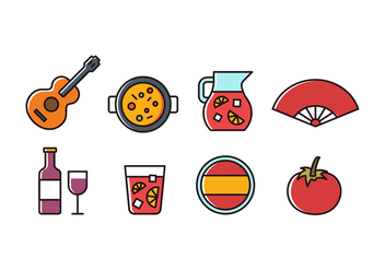 Free Spain Icon Set - vector #416403 gratis
