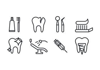 Dental Icons - vector #416463 gratis