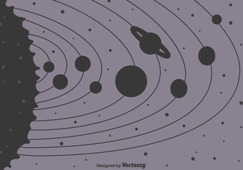 Solar System Background - vector #416553 gratis