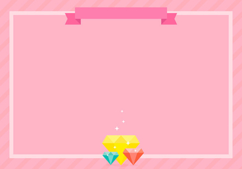 Rhinestone Background Frame Template - Free vector #416613