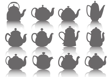 Free Teapot Icons Vector - Kostenloses vector #416633