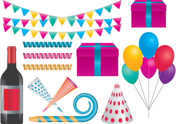 Celebration Party Items - vector gratuit #416723