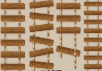 Rope Ladder Vector Icons - vector #416873 gratis