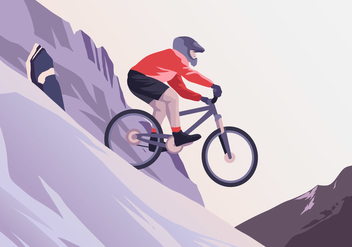 Rocky Bike Trail Vector - бесплатный vector #416883