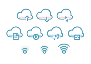 Tecnologia Cloud Icon - бесплатный vector #416963