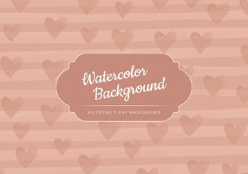 Vector Beige Valentine's Day Background - Free vector #416973