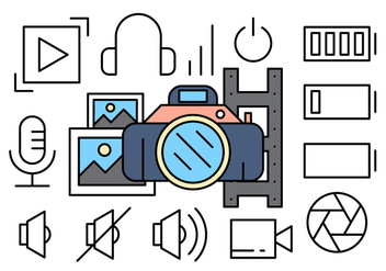 Free Photography Icons - vector #417143 gratis
