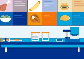 Free Vector Fast Food Stand - vector gratuit #417173