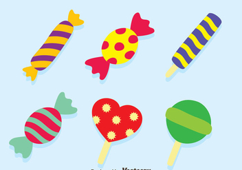 Nice Candy Vector Set - Free vector #417233
