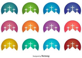 Holy Week Vector Icons - Free vector #417243