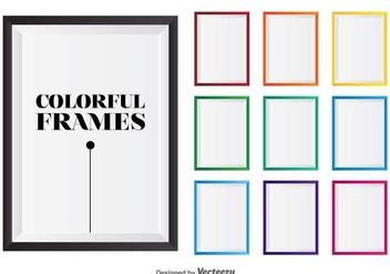 Colorful Vector Photo Frames - vector gratuit #417253
