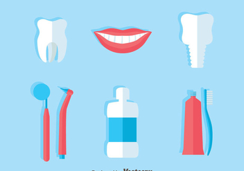 Dentist Flat Icons Vector - Free vector #417333