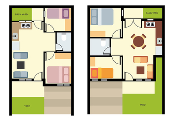 Home Floorplan Vector - бесплатный vector #417343