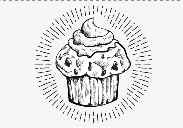 Free Hand Drawn Muffin Background - Kostenloses vector #417393